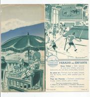 Dépliant Illustré Par Paul Ordner  Combloux 74 Haute Savoie , 3 Volets 10,5x21 Cm - Dépliants Turistici