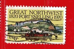 (Us2) USA °- 1970 - Paysage Du Fort . Yvert . 902.  USED. - Stati Uniti