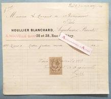 Facture 1887 HOULLIER BLANCHARD Arquebusier Breveté Au Marquis De BEAUMONT - Rue De Cléry - Paris - Rare - Frankrijk