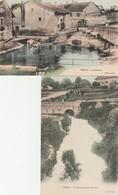 2 CPA COULEUR:THOIRY (01) TORRENT PUITS MATHIEU,LA FONTAINE - Frankreich