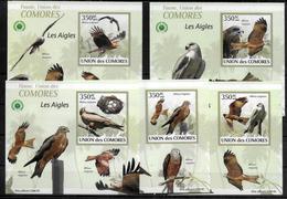 COMORES  BF Luxe N° 1696/00 * * NON DENTELE  Oiseaux Aigles - Aigles & Rapaces Diurnes