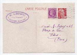 - Carte Postale MAISON LETHU, CLISSON Pour TISSAGES DUGUEY, FLERS 5.4.1948 - - Biglietto Postale