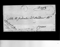 CG1 - Maccio - Doppio Cerchio Sardo Ital. + Bollo Del Comune -Lett. Per Como 10/8/1865 - 1. ...-1850 Prefilatelia
