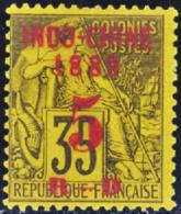 N° 1 5c Sur 35c Violet-noir Sur Jaune       Qualité:(*) Cote: 120 - Indochina (1889-1945)