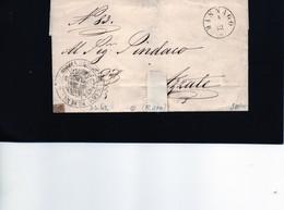 CG1 - Masnago - Doppio Cerchio Sardo Ital. + Bollo Del Comune - Lett. Per Azzate 3/3/1862 - 1. ...-1850 Prefilatelia