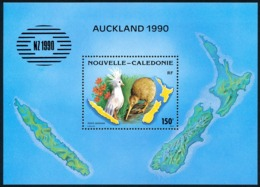 NOUV.-CALEDONIE 1990 - Yv. BF 10 ** TB  Cote= 6,10 EUR - Cagou, Kixi, Fleurs. Expo NewZealand'1990  ..Réf.NCE25747 - Blokken & Velletjes