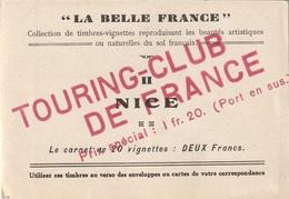Touring-club De France Carnet Vignettes Nice - Automobile - F1