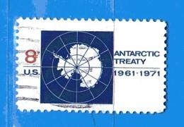 (Us2) USA °- 1971 - CARTE De L'ANTARCTIQUE . Yvert . 924.  USED. - Stati Uniti