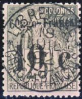 N° 5 10c Sur 25c Noir Sur Rose TB   Qualité:OBL Cote: 120 - Französisch-Kongo (1891-1960)