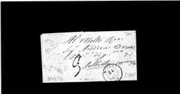 CG1 - Melzo - Doppio Cerchio Sardo Ital. - Lett. Per Solbiate Carnago 24/8/1863 - 1. ...-1850 Prephilately