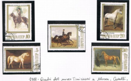 URSS - SG 5899.5903  - 1988  PAINTINGS IN HORSE BREEDING MUSEUM  (COMPLET SET OF 5)  - USED° - RIF. CP - Usati