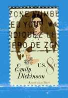 (Us2) USA °- 1971 - EMILY DICKINSON . Yvert . 934.  USED. - Stati Uniti