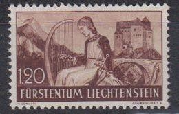 Liechtenstein 1937 Freimarke / Heinrich Von Frauenberg 1.20Fr * Mh (= Mint, Hinged) (45784J) - Unused Stamps