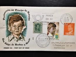 """Spain, Circulated FDC, """"Mornarchy"""", """"Proclamación Del Príncipe De Asturias"""", Barcelona, 1977 - FDC"""