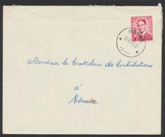 """Lunettes (Type Marchand) - 2F Rose Carminé Sur Lettre Obl Relais """"Harzé"""" (1955) Vers Esneux - 1953-1972 Lunettes"""