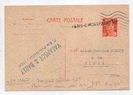 - Carte Postale MAISON VALANSOT & BAILLY, LYON Pour TISSAGES DUGUEY, FLERS (Orne) 27.8.1951 - - Biglietto Postale