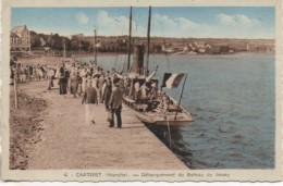 50 CARTERET Débarquement Du Bâteau De Jersey - Carteret