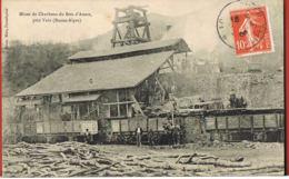 Cpa 04- Mines De Charbons Du Bois D'Asson Près Vols (Basses-Alpes)-animée Chargement Des Wagons- Recto Verso - Francia