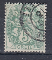 +D3434. Crete. Yvert 5. Cancelled - Kreta (1902-1903)