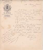 13./ .ISTRES 1888 / FABRIQUE D'HUILE D'OLIVE.PRODUITS DE PROVENCE.H.AYMES PROPRIETAIRE FABRICANT / VERGERS ESTAGEL / - Alimentos