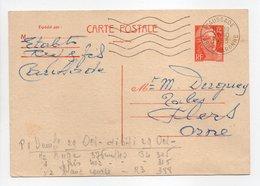 - Carte Postale MAISON REY, CAUSSADE (Tarn-et-Garonne) Pour TISSAGES DUGUEY, FLERS (Orne) 31.10.1953 - - Enteros Postales