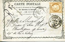 Carte Précurseur N°12  Storch N° OFF12 AMIENS 15 JANV 74 Pour Boulogne Timbre 15c Cérès Cote Voyagée 75€ En 2007 - Cartoline Precursori
