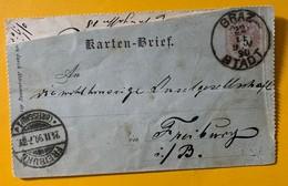 9817 -  Karten Bief Graz Stadt 22.11.1890   !!!! Déchirée Sur Le Haut - Entiers Postaux