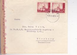 CROATIA  -  NDH  --    BRIEF   --  1942     --  ZAGREB Nach NURNBERG, DEUTSCHLAND  --  WERMACHT ZENSUR, CENZURA - Kroatien