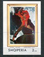 ALBANIA 1970 Paintings Block MNH / **.  Michel Block 39 - Albanie