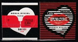 Année 2018 - N° 1514 Et 1515 - Saint-Valentin - Coeurs De Sonia Rykiel - 0,80 Et 1,60 € - Adhésifs (autocollants)