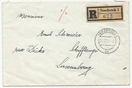 AUSTRIA 1951 - SERIE CARINZIA - LETTERA RACCOMANDATA CON LA SERIE COMPLETA DIRETTA IN LUSSEMBURGO - - 1945-60 Lettres