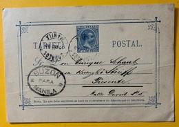 9820 - Entier Postal Manille 18.01.1896 - Philippines