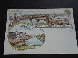 Duitsland ( 687 )  Deutschland  Allemagne  : Gruss Aus Coblenz    Koblenz   Hôtel Zum Riesen - Allemagne