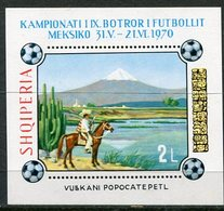 ALBANIA 1970 Football World Cup Perforated Block MNH / **.  Michel Block 38A - Albanie
