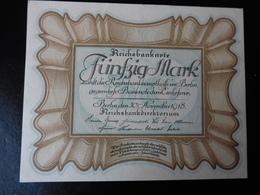 50 MARK REICHSBANKNOTE 30.11.1918 - NEUF - [ 3] 1918-1933 : República De Weimar