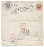 """ETAMPES  Maisons Lafitte  1869  NBX Cachets Dont """"Maisons Sur Seine"""" - Poststempel (Briefe)"""