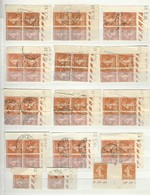 Lot De Timbres Coins Datés Semeuse Camée  25 Centimes Orange YT 235 (2 Scans) - Angoli Datati
