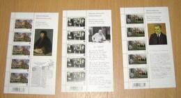 België 4092/93/94** Schrijvershuizen Musea - (3 Feuilles)  Maisons D'écrivains** MNH - Streuvels / Erasmus / Carème RRR - Feuillets