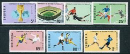 ALBANIA 1970 Football World Cup Perforated MNH / **.  Michel 1418-24A - Albanie