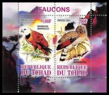 1104/ Bloc Oiseaux (bird Birds Oiseau) Neuf ** MNH Tirage Privé Vignette Rapaces Faucons Bird Of Prey - Adler & Greifvögel