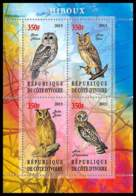 1132/ Bloc Oiseaux (bird Birds Oiseau) Neuf ** MNH Tirage Privé Vignette Chouette Owl - Eulenvögel