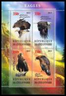 1133/ Bloc Oiseaux (bird Birds Oiseau) Neuf ** MNH Tirage Privé Vignette Rapace Bird Of Prey Aigle (eagle) - Adler & Greifvögel