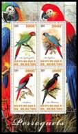 1134/ Bloc Oiseaux (bird Birds Oiseau) Neuf ** MNH Tirage Privé Vignette Perroquets Parrots - Papagayos