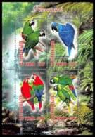 1138/ Bloc Oiseaux (bird Birds Oiseau) Neuf ** MNH Tirage Privé Vignette Perroquets Parrots - Papageien