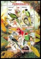 1143/ Bloc Oiseaux (bird Birds Oiseau) Neuf ** MNH Tirage Privé Vignette Perroquets Parrots - Papageien