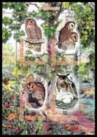 1144/ Bloc Oiseaux (bird Birds Oiseau) Neuf ** MNH Tirage Privé Vignette Chouette Owl - Eulenvögel