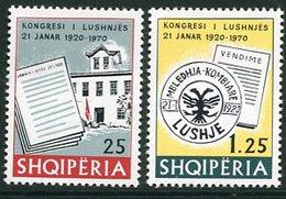 ALBANIA 1970 Lushnja Congress MNH / **.  Michel 1401-02 - Albanie