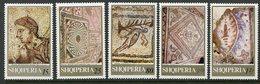 ALBANIA 1969 Mosaics MNH / **.  Michel 1396-1400 - Albania