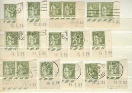 Lot De Timbres Coins Datés Type Paix 75 Centimes Olive YT 284A - Angoli Datati