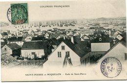 SAINT PIERRE ET MIQUELON CARTE POSTALE -RADE DE SAINT-PIERRE AVEC OBLITERATION ST PIERRE 8 MAI 06 ST PIERRE ET.......... - St.Pierre Et Miquelon